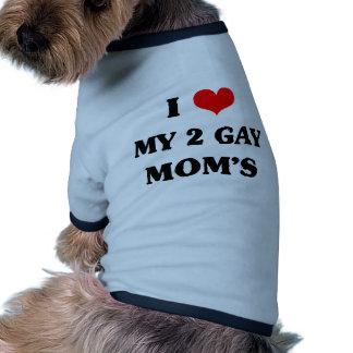 Jag älskar min två bögmamma hund t-shirts
