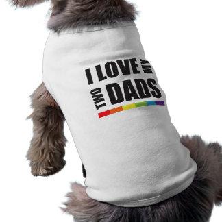 Jag älskar min två pride för pappor LGBT Husdjurströja