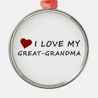 Jag älskar min Underbar-Mormor med hjärta Julgransprydnad Metall