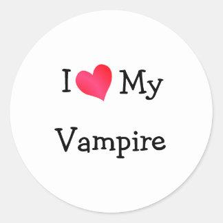 Jag älskar min vampyr runt klistermärke