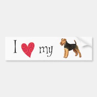 Jag älskar min walesiska Terrier Bildekal