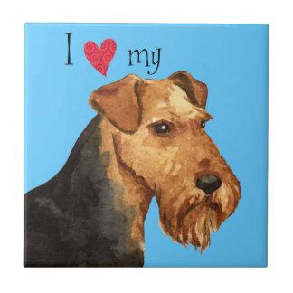 Jag älskar min walesiska Terrier Kakelplatta