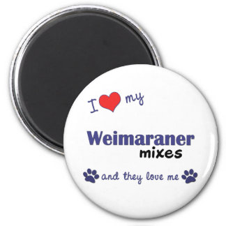 Jag älskar min Weimaraner blandningar (åtskilliga  Magnet
