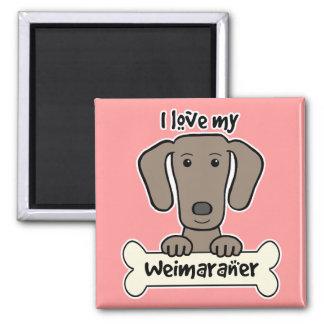 Jag älskar min Weimaraner Magnet