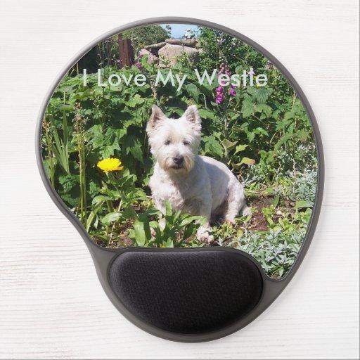 Jag älskar min Westie Gel Mousemat Gelé Musmattor