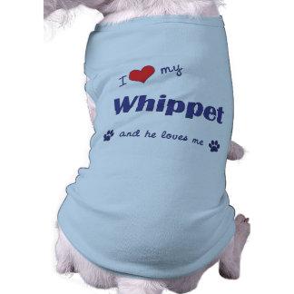 Jag älskar min Whippet (den Male hunden) Hundtröja