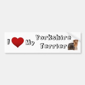 Jag älskar min yorkshire terrier (2) bildekal