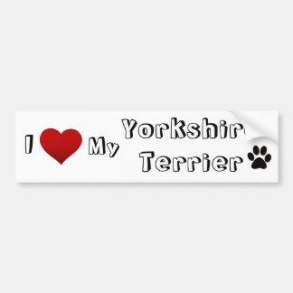 Jag älskar min yorkshire terrier bildekal