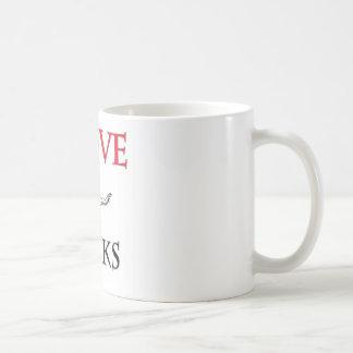 Jag älskar Minks Kaffemugg