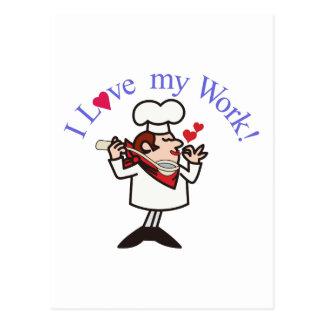 Jag älskar mitt arbete! vykort