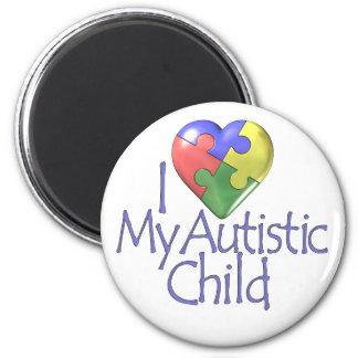 Jag älskar mitt Autistic barn Kylskåps Magneter
