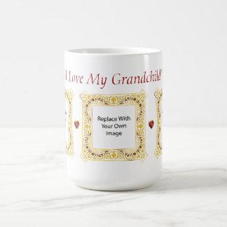 Jag älskar mitt barnbarn! Cameobildmugg #2 Kaffemugg