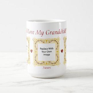 Jag älskar mitt barnbarn! Cameobildmugg #3 Kaffemugg