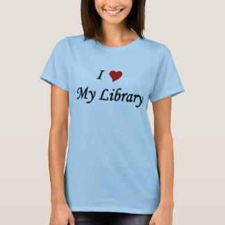 Jag älskar mitt bibliotek tee shirt
