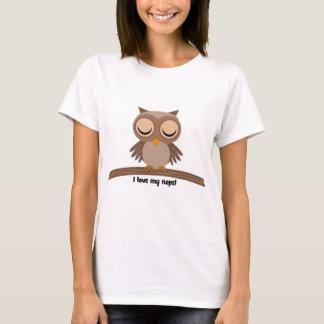 Jag älskar mitt ta sig en tupplur ugglan t shirts