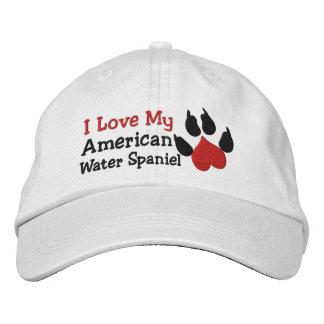 Jag älskar mitt tryck för tassen för hunden för broderad keps