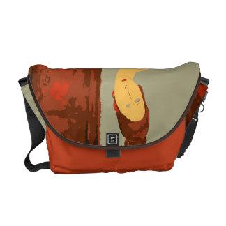 Jag älskar Modigliani! Messenger Bag