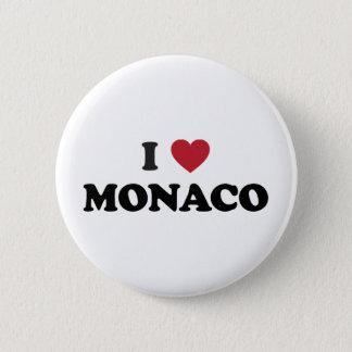 Jag älskar Monaco Standard Knapp Rund 5.7 Cm