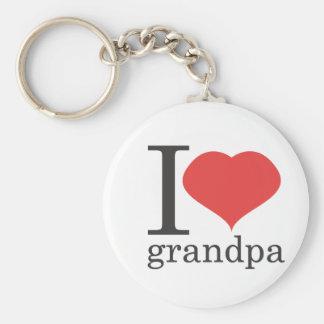 jag älskar morfar rund nyckelring
