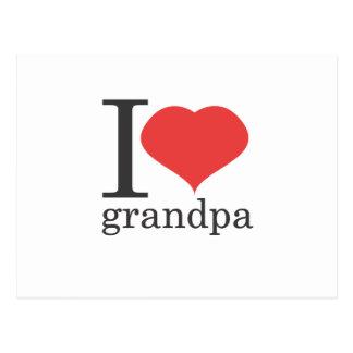 jag älskar morfar vykort
