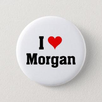 Jag älskar Morgan Standard Knapp Rund 5.7 Cm