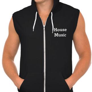 Jag älskar mörk manar för huset sleeveless musik sweatshirt med luva