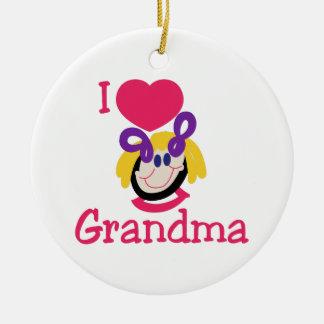 Jag älskar mormor julgransprydnad keramik