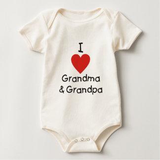 Jag älskar mormor & morfar krypdräkt