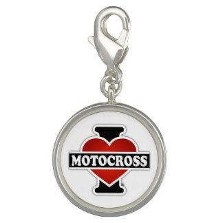 Jag älskar Motocross Foto Berlocker