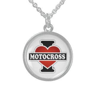 Jag älskar Motocross Sterling Silver Halsband