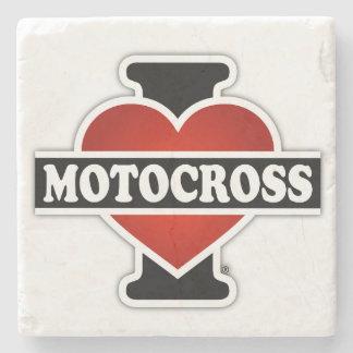 Jag älskar Motocross Underlägg Sten