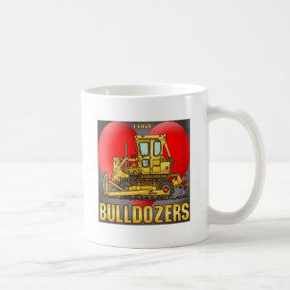 Jag älskar muggen för BulldozerDozerskaffe Kaffemugg