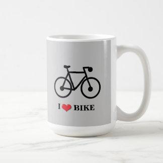 Jag älskar muggen för cykelklassikervit kaffemugg