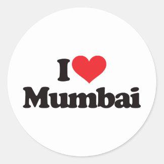 Jag älskar Mumbai Runt Klistermärke