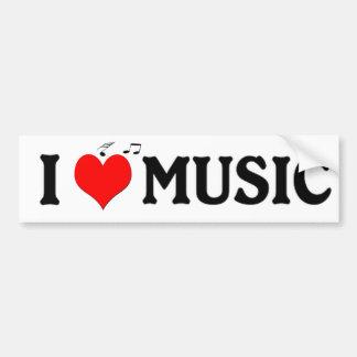 Jag älskar musik bildekal