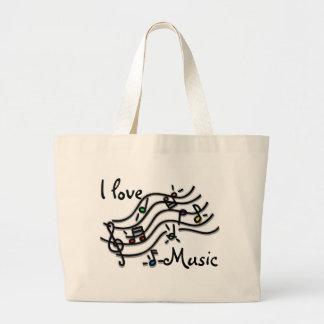Jag älskar musik jumbo tygkasse