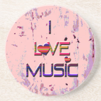 Jag älskar musik med hjärtor underlägg