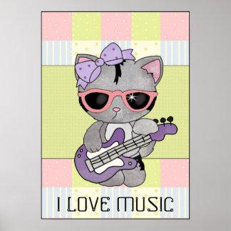 Jag älskar musikaffischen poster