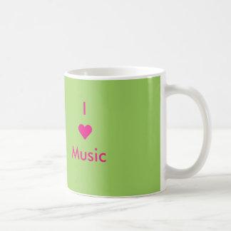 Jag älskar musikmuggen vit mugg