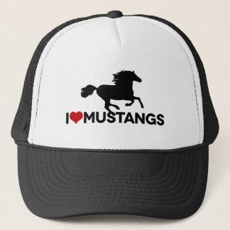 Jag älskar Mustangs - hatt Keps