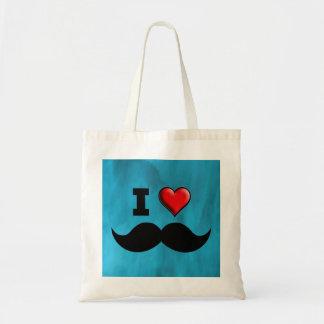 Jag älskar mustaschmoustachen Stache Tygkasse