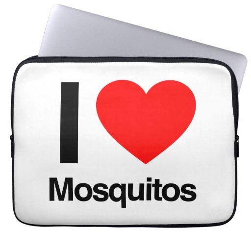 jag älskar myggor laptop datorskydd