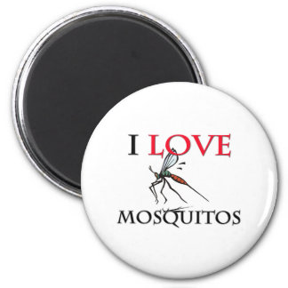 Jag älskar myggor magnet rund 5.7 cm