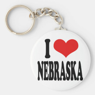 Jag älskar Nebraska Rund Nyckelring