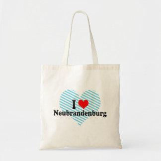 Jag älskar Neubrandenburg, Tyskland Budget Tygkasse