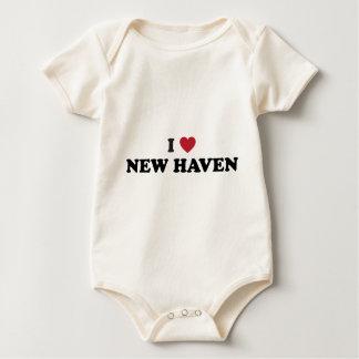Jag älskar New Haven Connecticut Krypdräkt