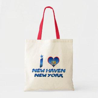 Jag älskar New Haven, New York Tote Bags