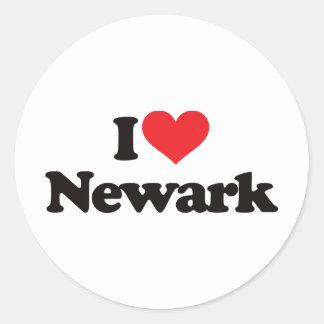 Jag älskar Newark Runt Klistermärke