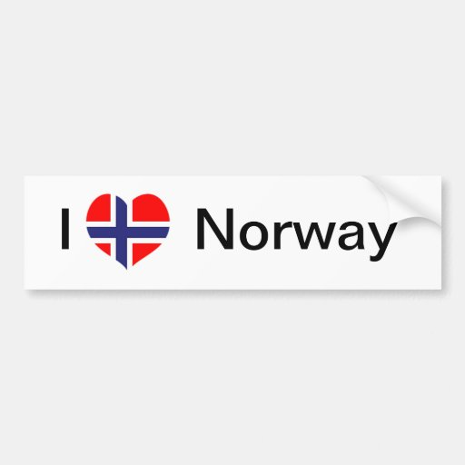 Jag älskar norge bildekal