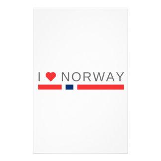 Jag älskar norge brevpapper